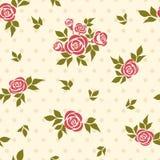 Nahtloses Muster mit Rosen Stockfoto