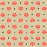 Nahtloses Muster mit Rosen Auch im corel abgehobenen Betrag Stockfotos