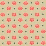 Nahtloses Muster mit Rosen Auch im corel abgehobenen Betrag Lizenzfreie Stockbilder