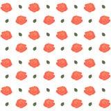 Nahtloses Muster mit Rosen Auch im corel abgehobenen Betrag Lizenzfreie Stockfotografie