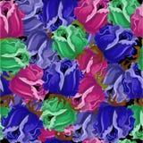 Nahtloses Muster mit Rosen im Schwarzen Lizenzfreie Stockfotos