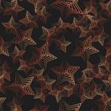 Nahtloses Muster mit Rot und Gold spielt, Abstraktionsillustration auf dunklem Hintergrund die Hauptrolle Stockfotos