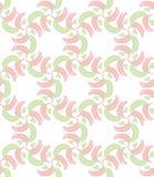 Nahtloses Muster mit rotem und grünem Schal Vektor Abbildung