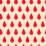Nahtloses Muster mit roten Tropfen Lizenzfreies Stockfoto