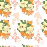 Nahtloses Muster mit schönen Blumen Stockfotos