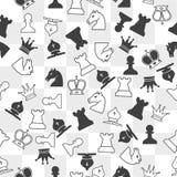 Nahtloses Muster mit Schachfiguren Lizenzfreies Stockfoto
