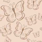 Nahtloses Muster mit Schmetterling, Weinleseschmetterling Lizenzfreies Stockbild