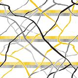 Nahtloses Muster mit Schmutzbürstenanschlägen Stockfotografie