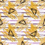 Nahtloses Muster mit Schmutzbeschaffenheiten Modehippie-Hintergrund Vektor für Netz, Druck, Gewebe, Gewebe, Einladungskarte, wrap stock abbildung