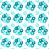 Nahtloses Muster mit Schmutzkreisen Lizenzfreies Stockbild