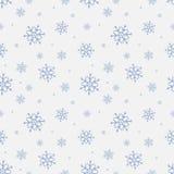 Nahtloses Muster mit Schneeflocke Wintersaisonhintergrund mit Schneefällen Weihnachts- und Neujahrsfeiertagdruck Lizenzfreie Stockfotos