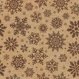 Nahtloses Muster mit Schneeflockehintergrund. Lizenzfreie Stockfotos