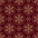 Nahtloses Muster mit Schneeflocken Lizenzfreies Stockfoto