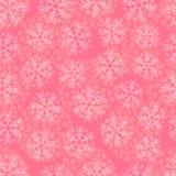 Nahtloses Muster mit Schneeflocken Lizenzfreie Stockfotografie