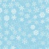 Nahtloses Muster mit Schneeflocken Lizenzfreie Stockfotos