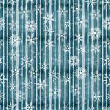 Nahtloses Muster mit Schneeflocken Stockfoto