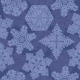 Nahtloses Muster mit Schneeflocken Stockbild