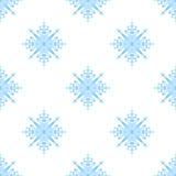 Nahtloses Muster mit Schneeflocken Stockfotos