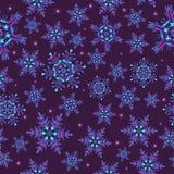 Nahtloses Muster mit Schneeflocken, Lizenzfreie Stockfotografie