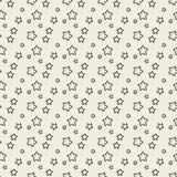 Nahtloses Muster mit schwarzen Sternen. Stockfotos