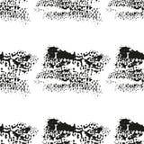 Nahtloses Muster mit schwarzen tintigen Flecken Stockfotografie