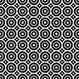 Nahtloses Muster mit Schwarzweiss-Kreisen Stockfoto