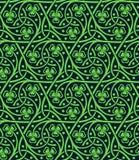 Nahtloses Muster mit Shamrock Lizenzfreies Stockfoto