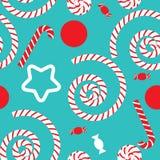 Nahtloses Muster mit Süßigkeit Lizenzfreies Stockbild