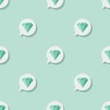 Nahtloses Muster mit Smaragd Lizenzfreie Stockfotografie