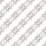 Nahtloses Muster mit spinnender Kreismasche Stockbilder