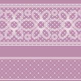 Nahtloses Muster mit Spitze für Design Lizenzfreies Stockbild