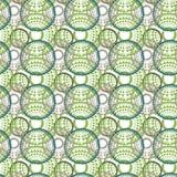 Nahtloses Muster mit Stempeln und Kreisbeschaffenheit Lizenzfreies Stockbild