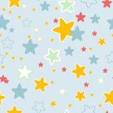 Nahtloses Muster mit Sternen Stockbilder