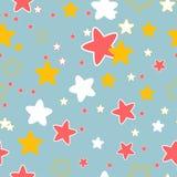 Nahtloses Muster mit Sternen Lizenzfreie Stockbilder