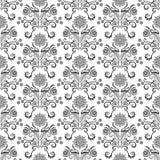 Nahtloses Muster mit Sternen und Blättern Stockfotos