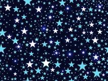 Nahtloses Muster mit Sternen, Weltraum Vektor Lizenzfreies Stockfoto