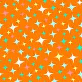 Nahtloses Muster mit Sternenlichtscheinen, funkelnde Sterne Gl?nzender orange Hintergrund Abstrakter Glanz, schicker Hintergrund  vektor abbildung