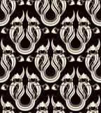 Nahtloses Muster mit stilisiert Tulpen Stockfotografie