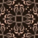 Nahtloses Muster mit stilisiert Tulpen Stockfotos
