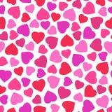 Nahtloses Muster mit stilisiertem Herzsymbol Lizenzfreie Stockbilder