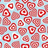 Nahtloses Muster mit stilisiertem Herzsymbol Stockfotos