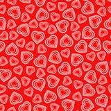 Nahtloses Muster mit stilisiertem Herzsymbol Romantische Tapete Lizenzfreie Stockbilder