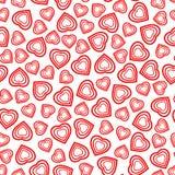 Nahtloses Muster mit stilisiertem Herzsymbol Romantische Tapete Stockfoto