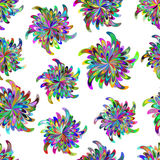 Nahtloses Muster mit stilisierten Blumen Stockfoto