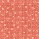 Nahtloses Muster mit stilisierten Sternen Stockfotos