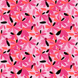 Nahtloses Muster mit stilvollen Blumen auf einem rosa Hintergrund Stockbilder