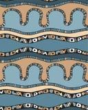 Nahtloses Muster mit Streifen in der Gekritzelart Lizenzfreies Stockbild
