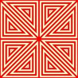 Nahtloses Muster mit symmetrischer geometrischer Verzierung Stockfotografie
