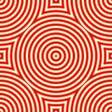 Nahtloses Muster mit symmetrischer geometrischer Verzierung Lizenzfreies Stockfoto