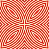Nahtloses Muster mit symmetrischer geometrischer Verzierung Stockbild